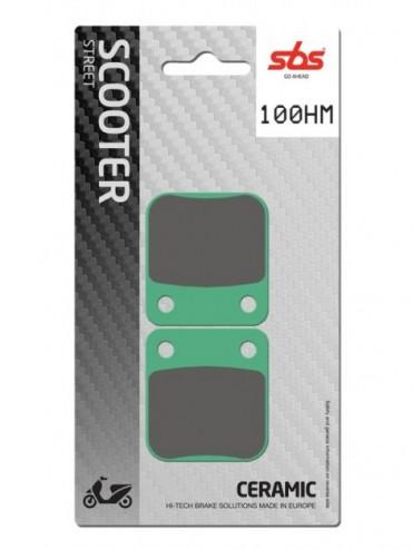 Pastilla de freno SBS para Daelim Cordi 2T 50 (2006-2011) Delantera  Cerámica