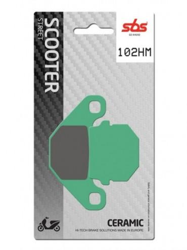 Pastilla de freno SBS para Adly ATK Buggy 4T 125 (2003-2007) Delantera  Cerámica