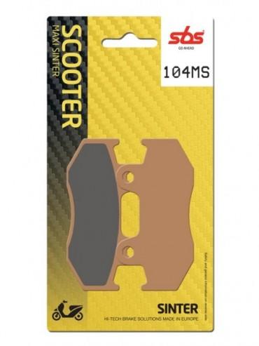 Pastilla de freno SBS para Honda @ 150 (2001-0) Delantera  Sinterizadas