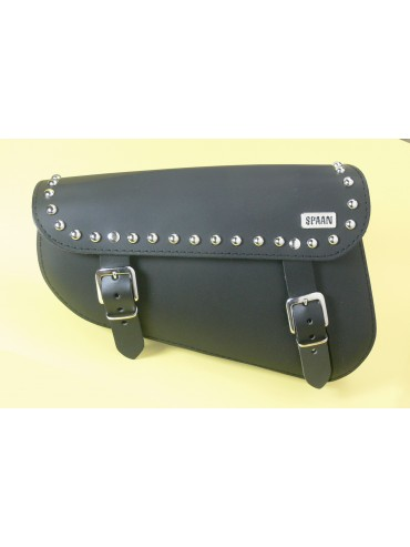 Bolsa Basculante en negra o marron para Harley Sportster y disponible con tachuelas. Capacidad 2 LITROS