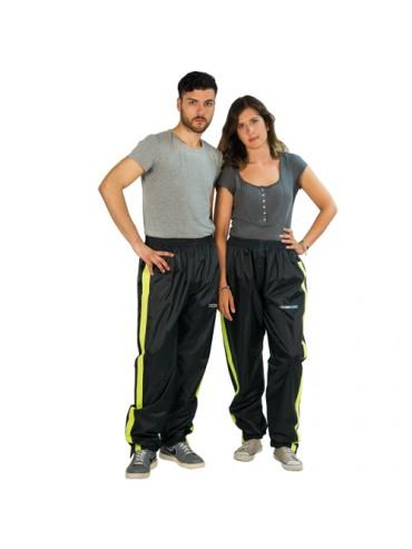 Pantalon (Xxl) Negro Franja Fluor